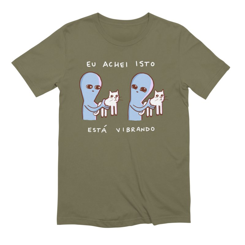 STRANGE PLANET SPECIAL PRODUCT: VIBRATING IN PORTUGUESE Men's Extra Soft T-Shirt by Nathan W Pyle