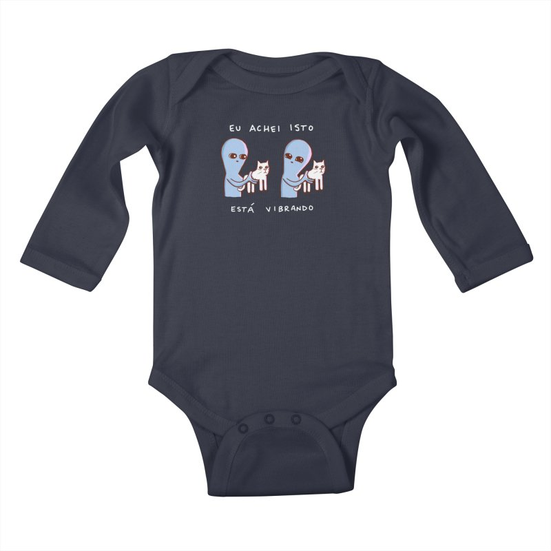 STRANGE PLANET SPECIAL PRODUCT: VIBRATING IN PORTUGUESE Kids Baby Longsleeve Bodysuit by Nathan W Pyle