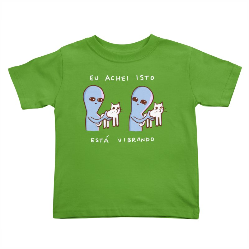STRANGE PLANET SPECIAL PRODUCT: VIBRATING IN PORTUGUESE Kids Toddler T-Shirt by Nathan W Pyle