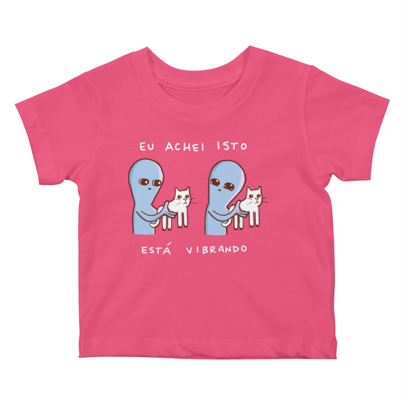 STRANGE PLANET SPECIAL PRODUCT: VIBRATING IN PORTUGUESE Kids Baby T-Shirt by Nathan W Pyle