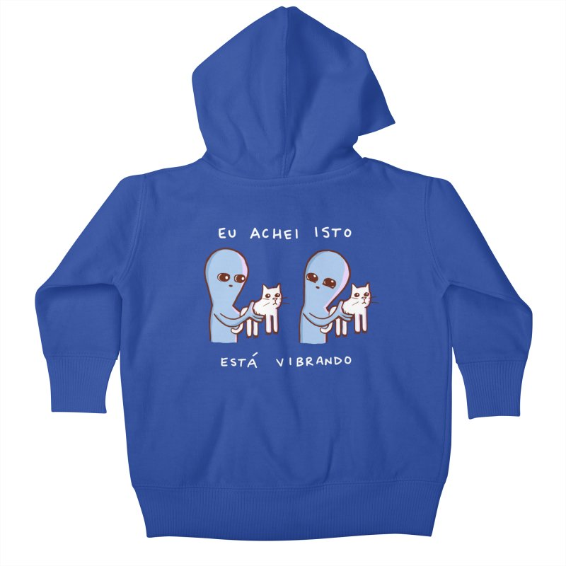 STRANGE PLANET SPECIAL PRODUCT: VIBRATING IN PORTUGUESE Kids Baby Zip-Up Hoody by Nathan W Pyle