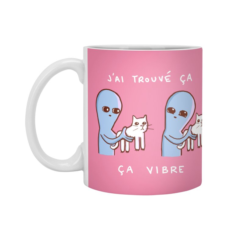 STRANGE PLANET SPECIAL PRODUCT: VIBRATING IN FRENCH Accessories Standard Mug by Nathan W Pyle