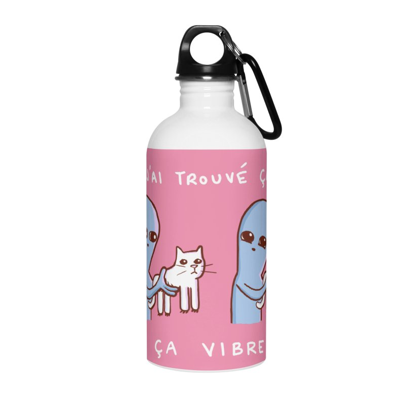 STRANGE PLANET SPECIAL PRODUCT: VIBRATING IN FRENCH Accessories Water Bottle by Nathan W Pyle