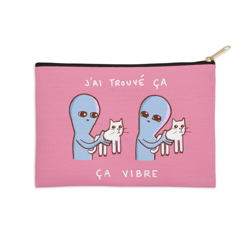 STRANGE PLANET SPECIAL PRODUCT: VIBRATING IN FRENCH Accessories Zip Pouch by Nathan W Pyle