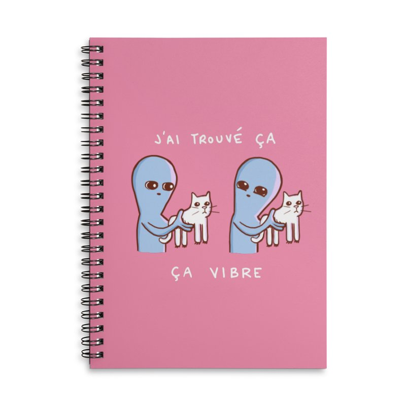 STRANGE PLANET SPECIAL PRODUCT: VIBRATING IN FRENCH Accessories Lined Spiral Notebook by Nathan W Pyle