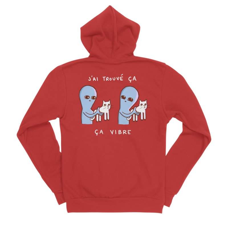 STRANGE PLANET SPECIAL PRODUCT: VIBRATING IN FRENCH Men's Zip-Up Hoody by Nathan W Pyle