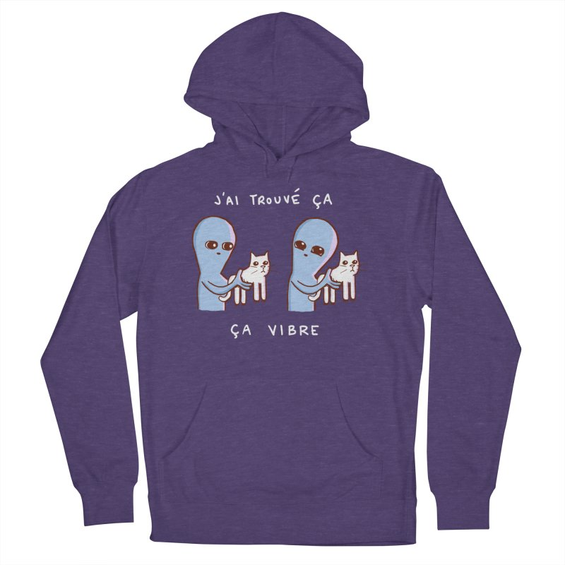 STRANGE PLANET SPECIAL PRODUCT: VIBRATING IN FRENCH Women's French Terry Pullover Hoody by Nathan W Pyle