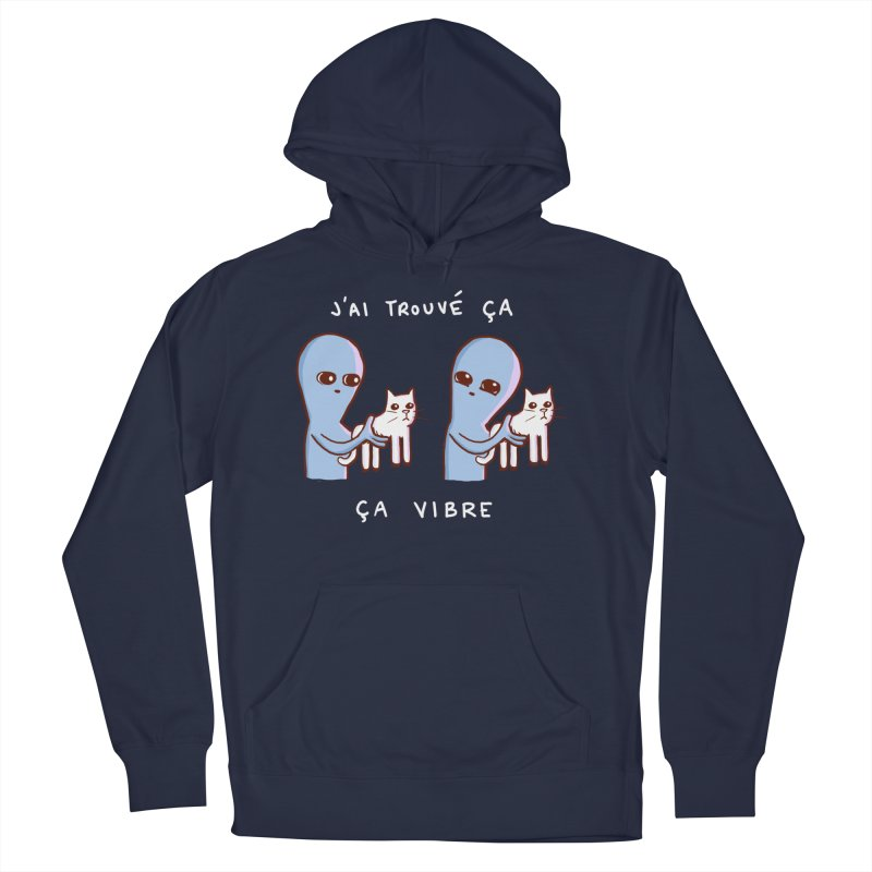 STRANGE PLANET SPECIAL PRODUCT: VIBRATING IN FRENCH Men's French Terry Pullover Hoody by Nathan W Pyle