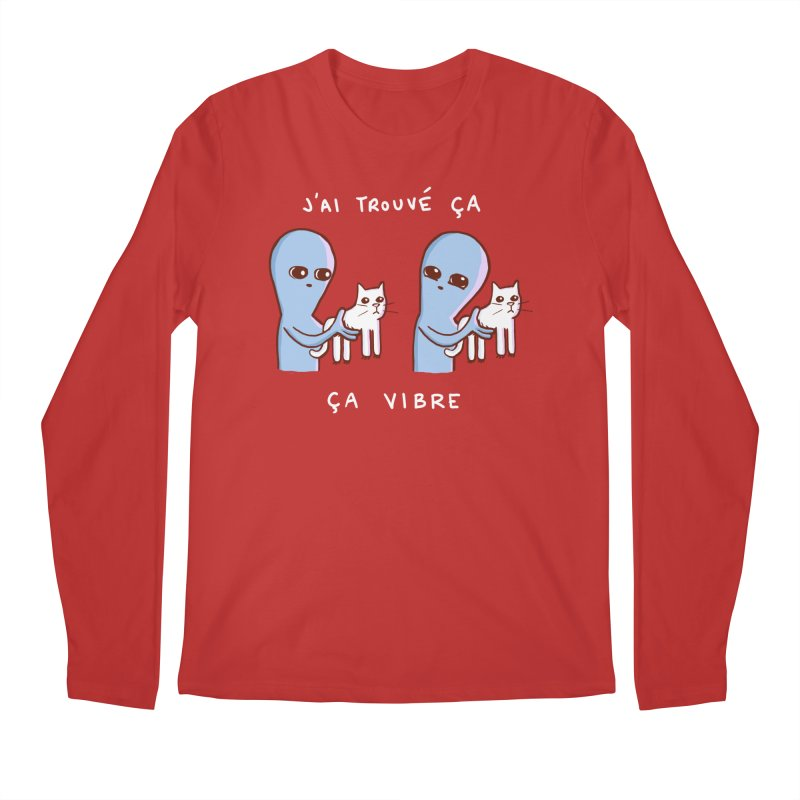 STRANGE PLANET SPECIAL PRODUCT: VIBRATING IN FRENCH Men's Regular Longsleeve T-Shirt by Nathan W Pyle