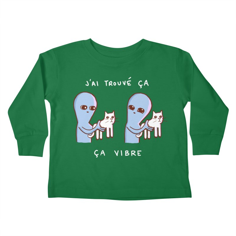 STRANGE PLANET SPECIAL PRODUCT: VIBRATING IN FRENCH Kids Toddler Longsleeve T-Shirt by Nathan W Pyle