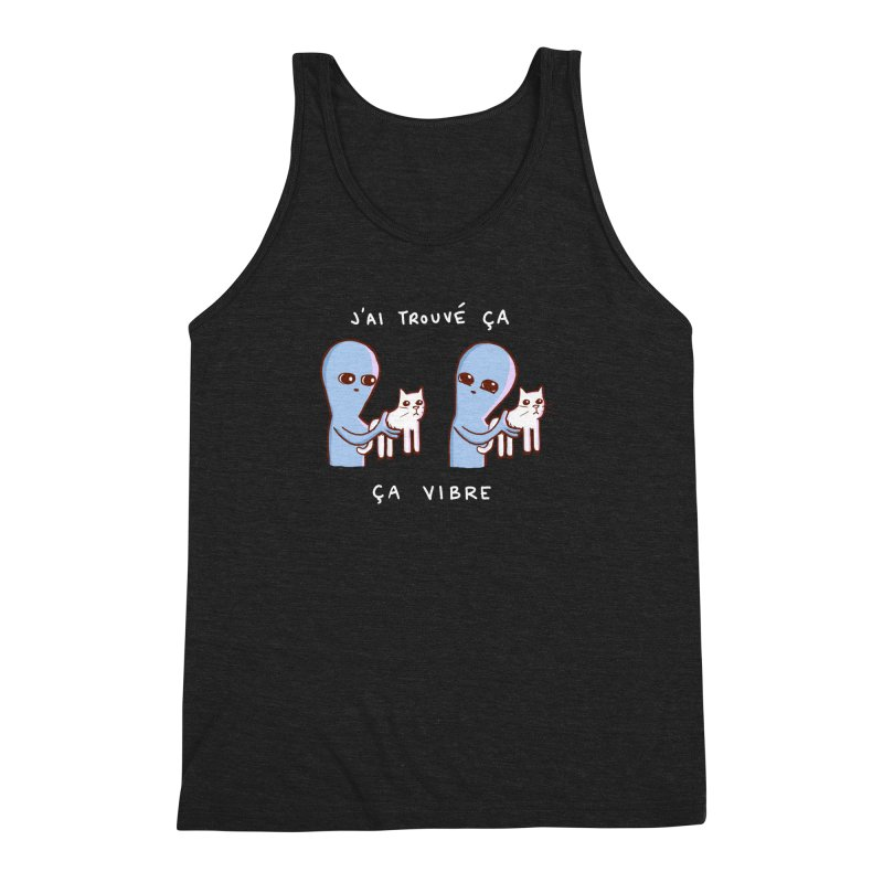 STRANGE PLANET SPECIAL PRODUCT: VIBRATING IN FRENCH Men's Triblend Tank by Nathan W Pyle