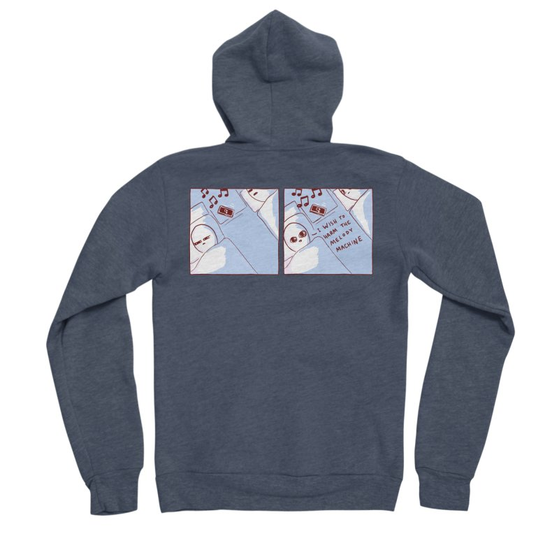 STRANGE PLANET SPECIAL PRODUCT: MELODY MACHINE Men's Sponge Fleece Zip-Up Hoody by Nathan W Pyle