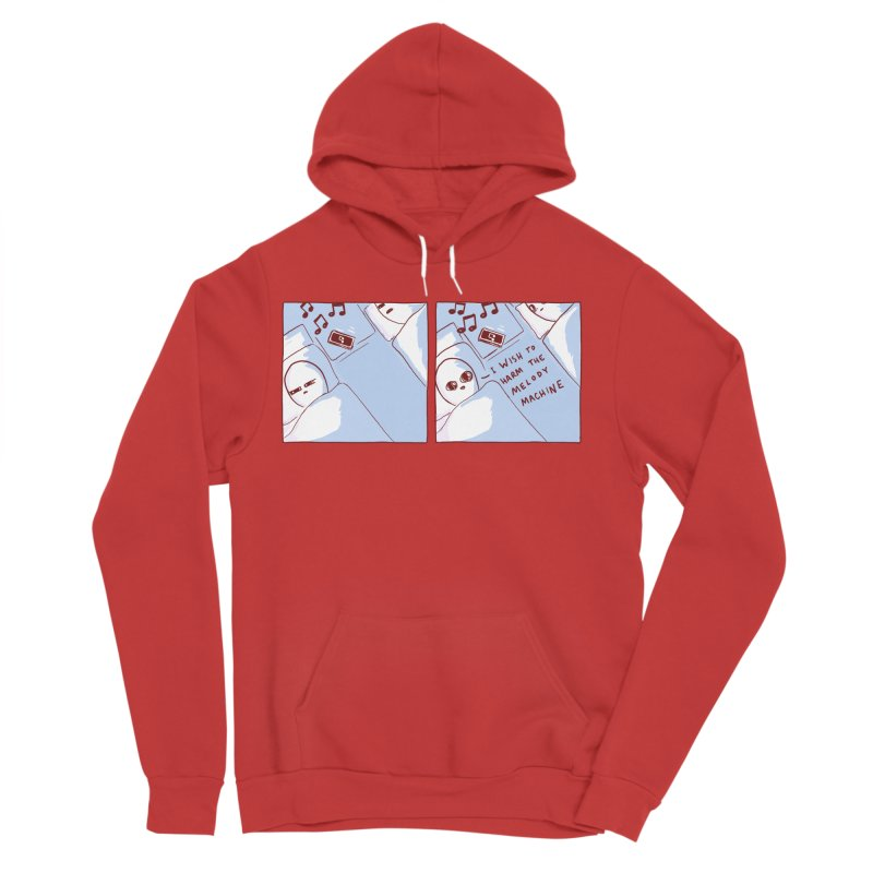 STRANGE PLANET SPECIAL PRODUCT: MELODY MACHINE Men's Sponge Fleece Pullover Hoody by Nathan W Pyle