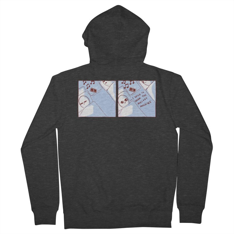 STRANGE PLANET SPECIAL PRODUCT: MELODY MACHINE Women's French Terry Zip-Up Hoody by Nathan W Pyle