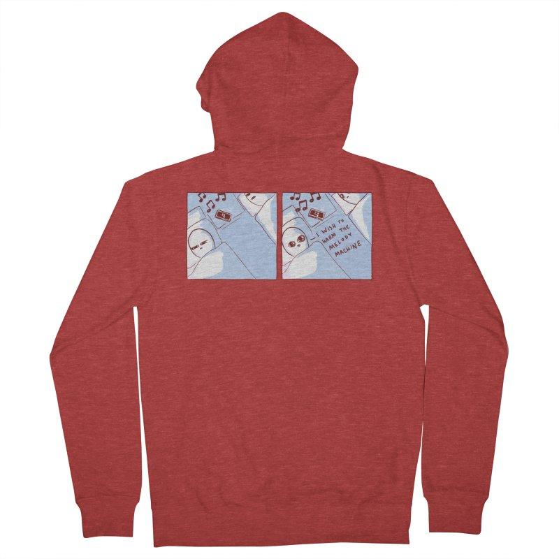 STRANGE PLANET SPECIAL PRODUCT: MELODY MACHINE Men's French Terry Zip-Up Hoody by Nathan W Pyle