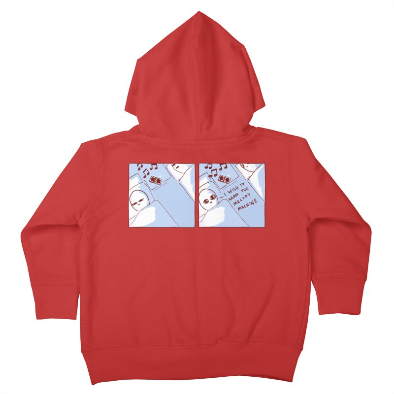 STRANGE PLANET SPECIAL PRODUCT: MELODY MACHINE Kids Toddler Zip-Up Hoody by Nathan W Pyle