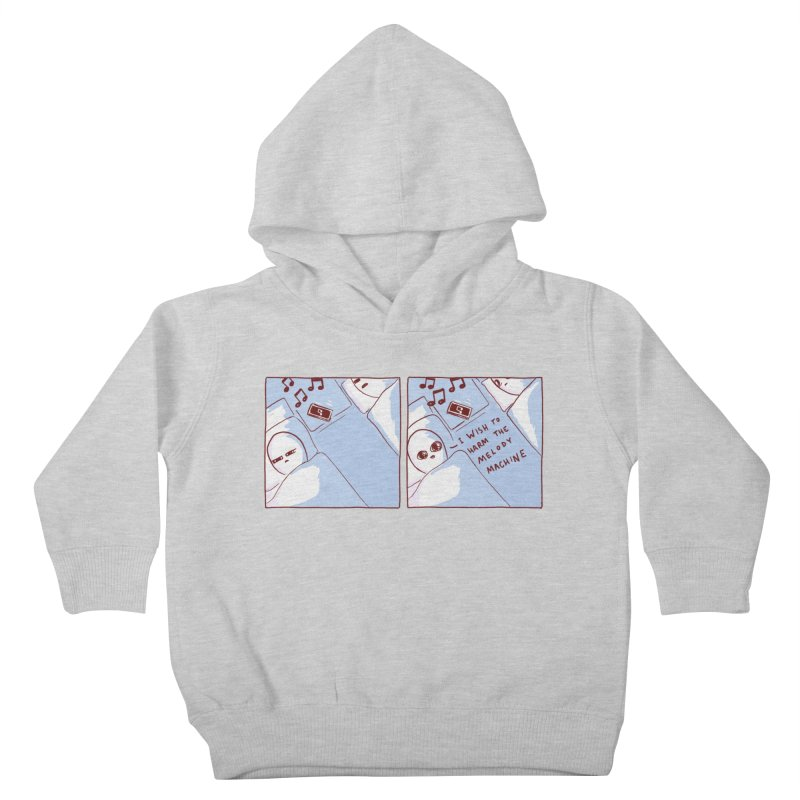 STRANGE PLANET SPECIAL PRODUCT: MELODY MACHINE Kids Toddler Pullover Hoody by Nathan W Pyle