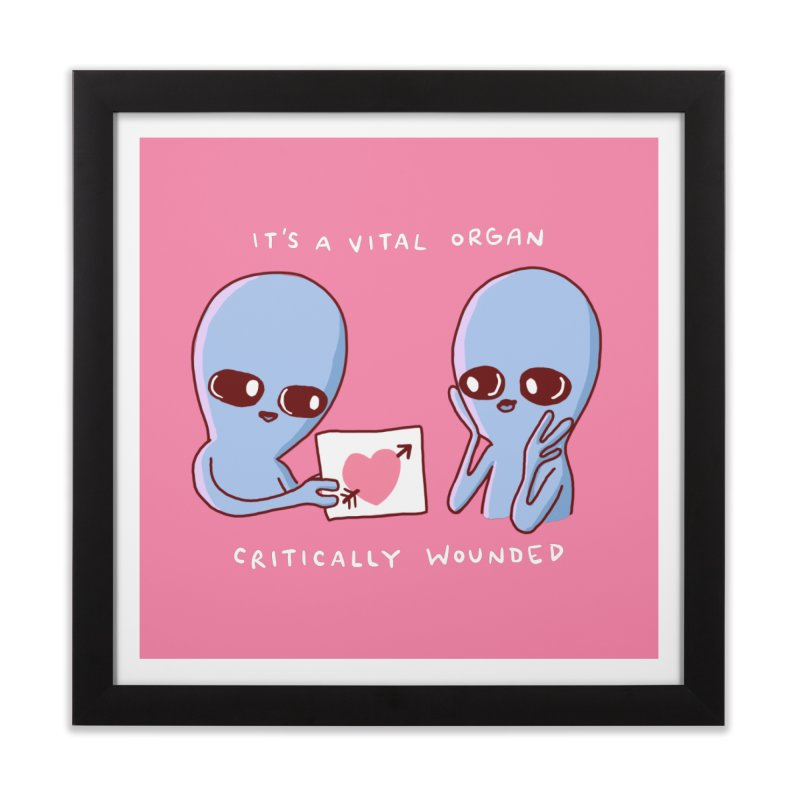 STRANGE PLANET SPECIAL PRODUCT: VITAL ORGAN Home Framed Fine Art Print by Nathan W Pyle