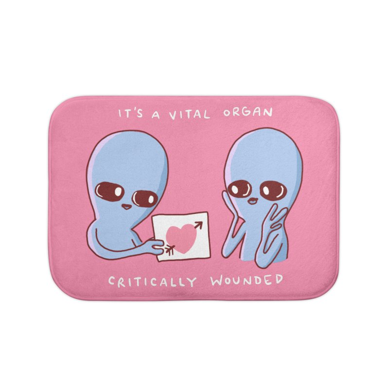 STRANGE PLANET SPECIAL PRODUCT: VITAL ORGAN Home Bath Mat by Nathan W Pyle