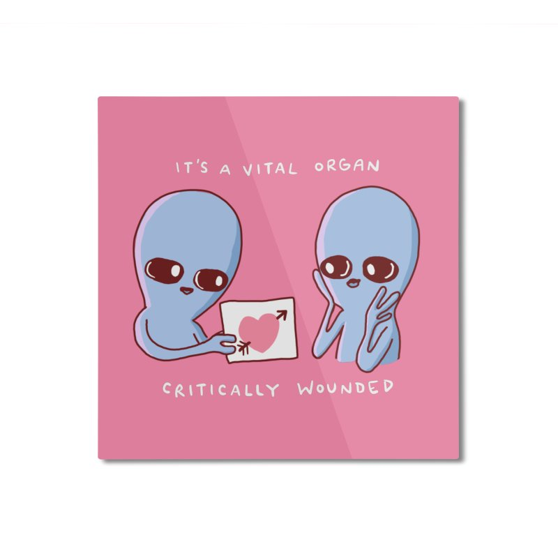 STRANGE PLANET SPECIAL PRODUCT: VITAL ORGAN Home Mounted Aluminum Print by Nathan W Pyle