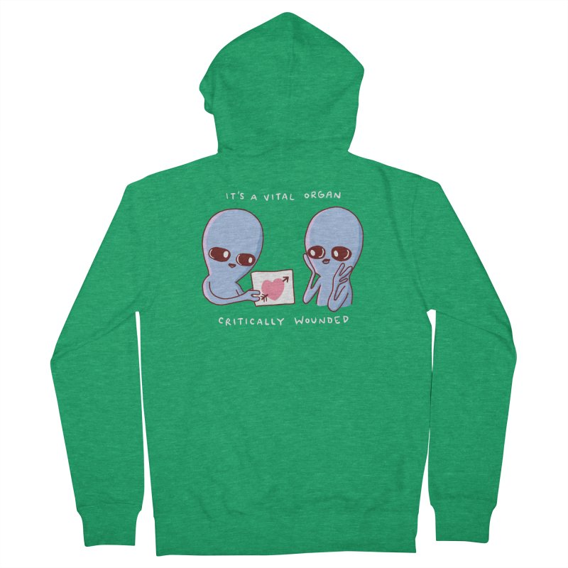 STRANGE PLANET SPECIAL PRODUCT: VITAL ORGAN Men's Zip-Up Hoody by Nathan W Pyle