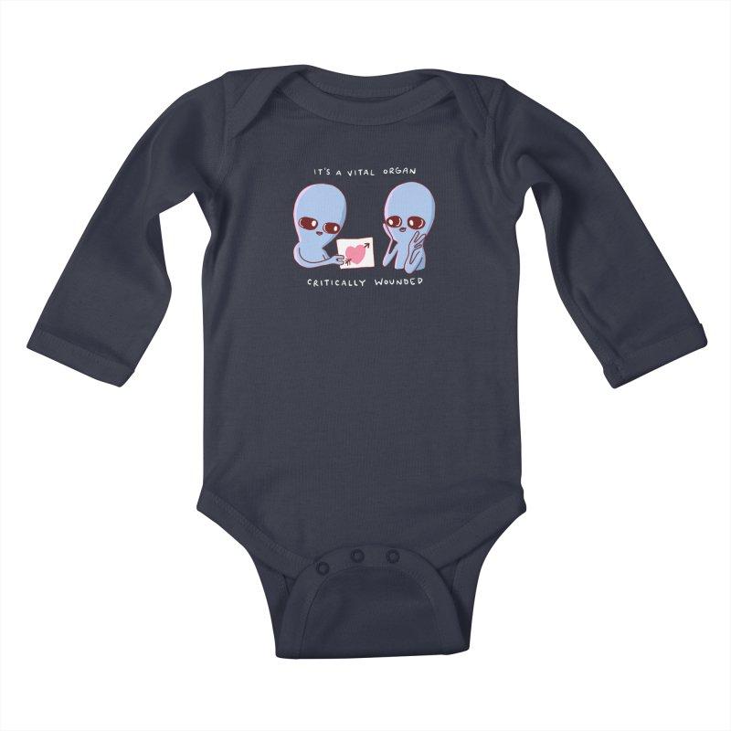 STRANGE PLANET SPECIAL PRODUCT: VITAL ORGAN Kids Baby Longsleeve Bodysuit by Nathan W Pyle