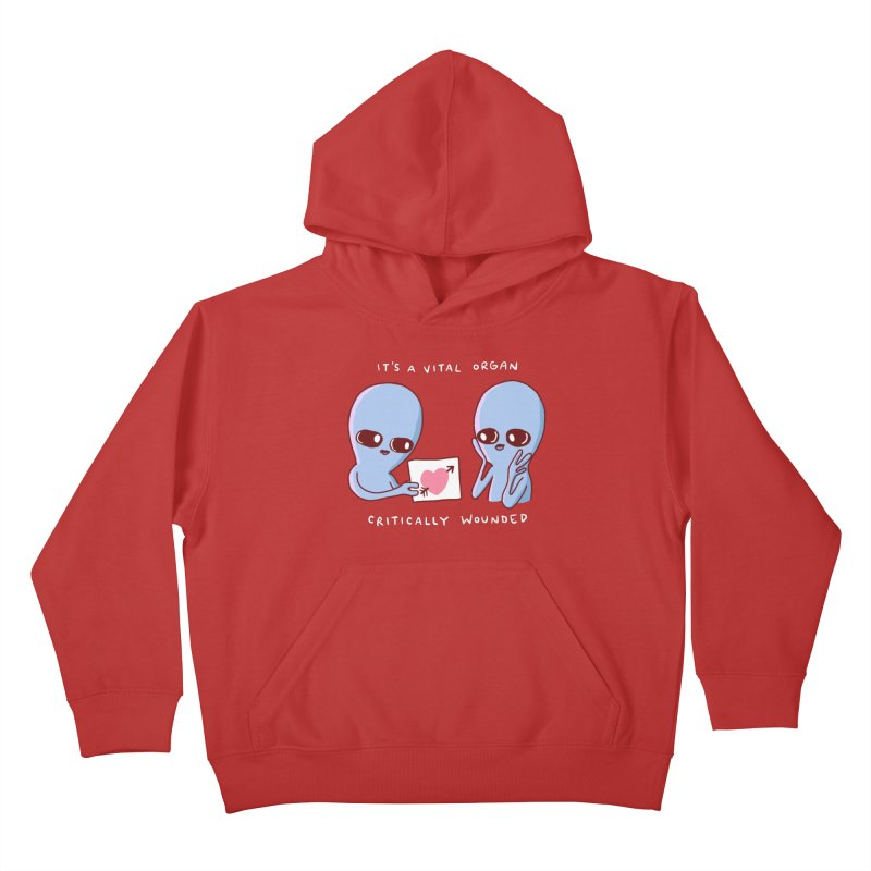STRANGE PLANET SPECIAL PRODUCT: VITAL ORGAN Kids Pullover Hoody by Nathan W Pyle