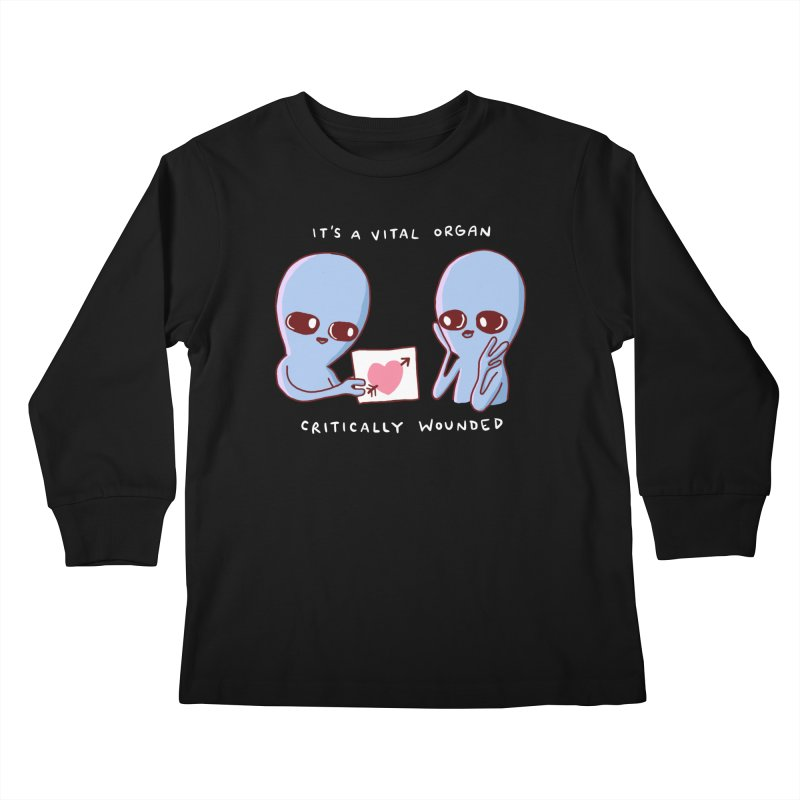STRANGE PLANET SPECIAL PRODUCT: VITAL ORGAN Kids Longsleeve T-Shirt by Nathan W Pyle
