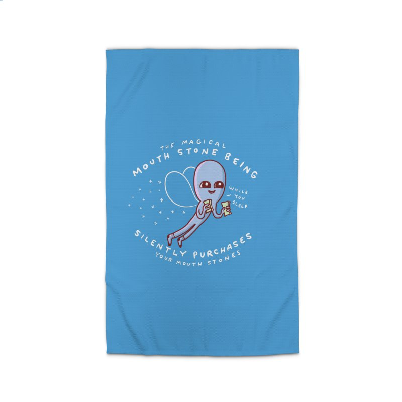 STRANGE PLANET SPECIAL PRODUCT: MAGICAL MOUTH STONE BEING Home Rug by Nathan W Pyle