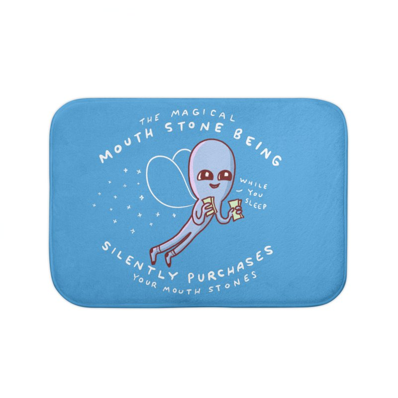 STRANGE PLANET SPECIAL PRODUCT: MAGICAL MOUTH STONE BEING Home Bath Mat by Nathan W Pyle