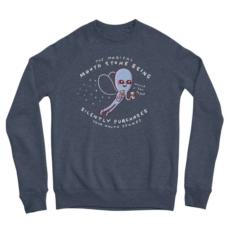 STRANGE PLANET SPECIAL PRODUCT: MAGICAL MOUTH STONE BEING Men's Sponge Fleece Sweatshirt by Nathan W Pyle