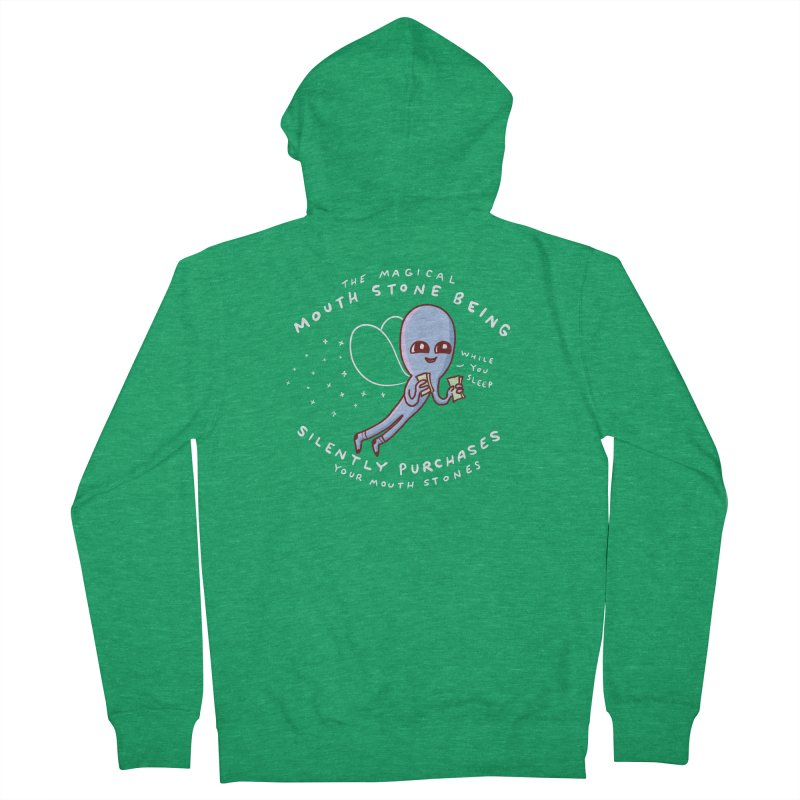 STRANGE PLANET SPECIAL PRODUCT: MAGICAL MOUTH STONE BEING Women's Zip-Up Hoody by Nathan W Pyle