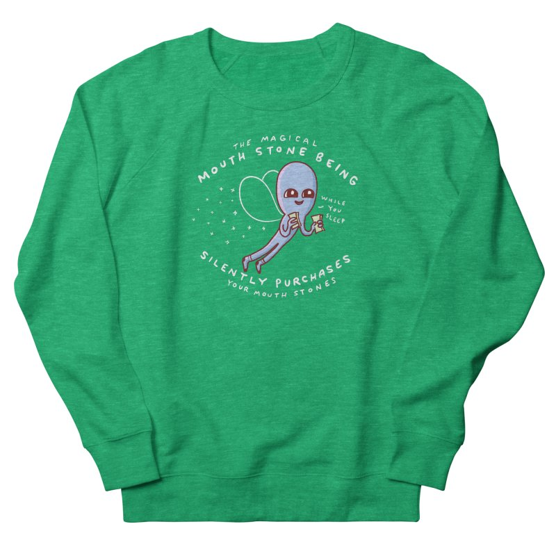 STRANGE PLANET SPECIAL PRODUCT: MAGICAL MOUTH STONE BEING Women's Sweatshirt by Nathan W Pyle