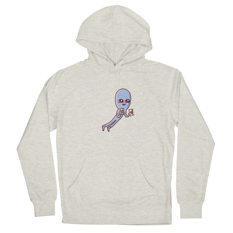 STRANGE PLANET SPECIAL PRODUCT: MAGICAL MOUTH STONE BEING Women's French Terry Pullover Hoody by Nathan W Pyle