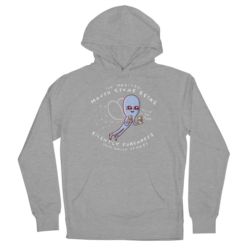 STRANGE PLANET SPECIAL PRODUCT: MAGICAL MOUTH STONE BEING Men's French Terry Pullover Hoody by Nathan W Pyle