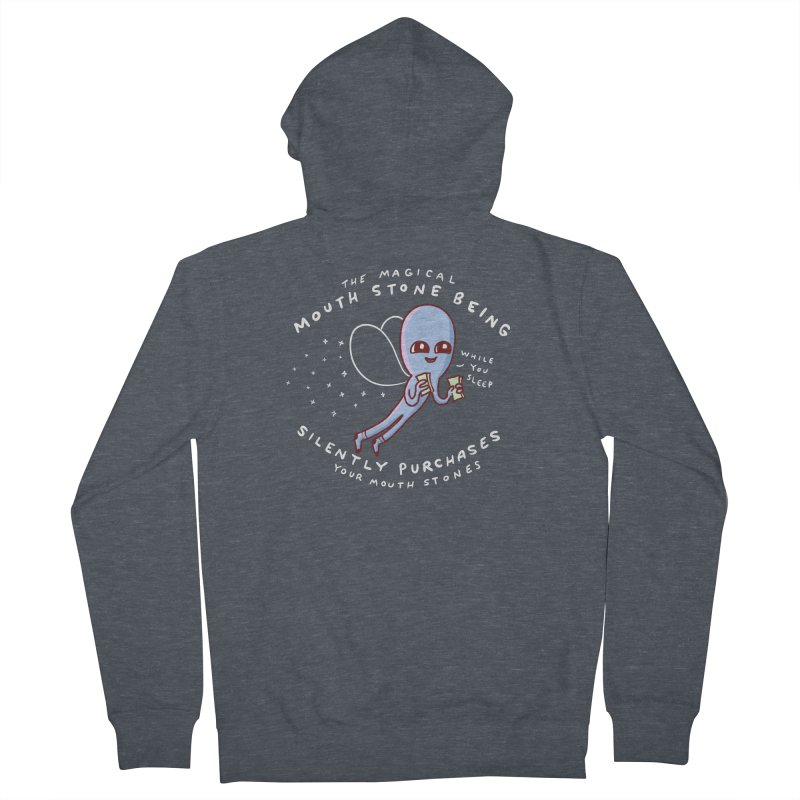 STRANGE PLANET SPECIAL PRODUCT: MAGICAL MOUTH STONE BEING Men's French Terry Zip-Up Hoody by Nathan W Pyle
