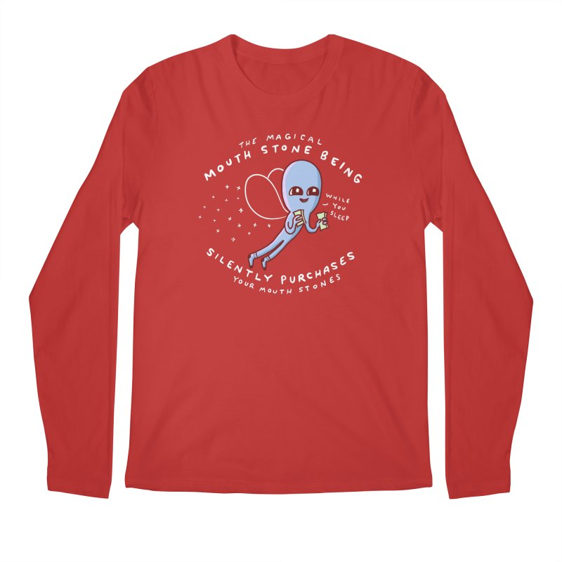 STRANGE PLANET SPECIAL PRODUCT: MAGICAL MOUTH STONE BEING Men's Regular Longsleeve T-Shirt by Nathan W Pyle