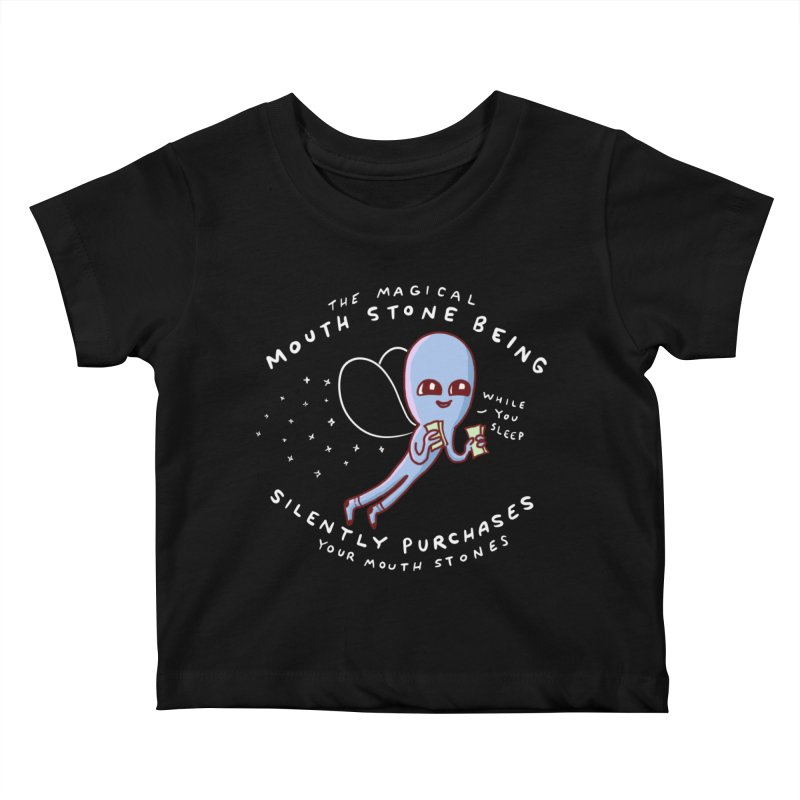 STRANGE PLANET SPECIAL PRODUCT: MAGICAL MOUTH STONE BEING Kids Baby T-Shirt by Nathan W Pyle