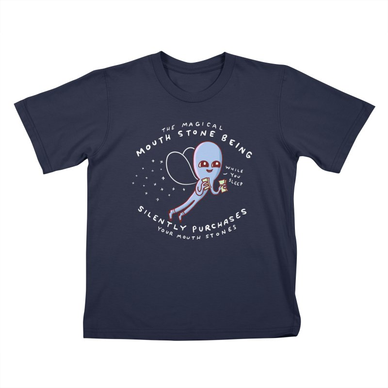 STRANGE PLANET SPECIAL PRODUCT: MAGICAL MOUTH STONE BEING Kids T-Shirt by Nathan W Pyle