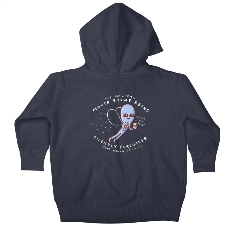 STRANGE PLANET SPECIAL PRODUCT: MAGICAL MOUTH STONE BEING Kids Baby Zip-Up Hoody by Nathan W Pyle