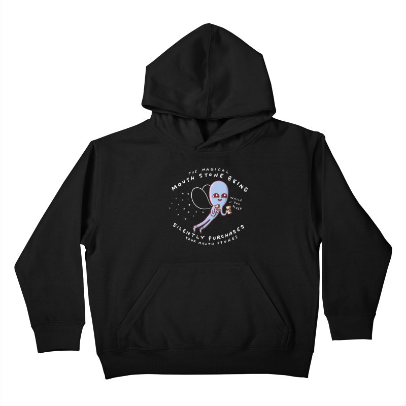 STRANGE PLANET SPECIAL PRODUCT: MAGICAL MOUTH STONE BEING Kids Pullover Hoody by Nathan W Pyle