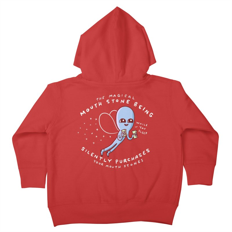 STRANGE PLANET SPECIAL PRODUCT: MAGICAL MOUTH STONE BEING Kids Toddler Zip-Up Hoody by Nathan W Pyle