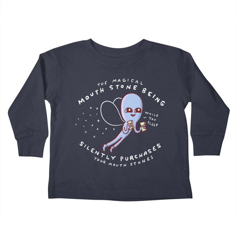 STRANGE PLANET SPECIAL PRODUCT: MAGICAL MOUTH STONE BEING Kids Toddler Longsleeve T-Shirt by Nathan W Pyle