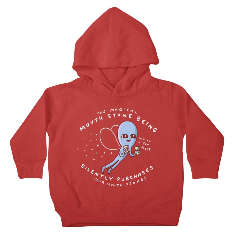 STRANGE PLANET SPECIAL PRODUCT: MAGICAL MOUTH STONE BEING Kids Toddler Pullover Hoody by Nathan W Pyle