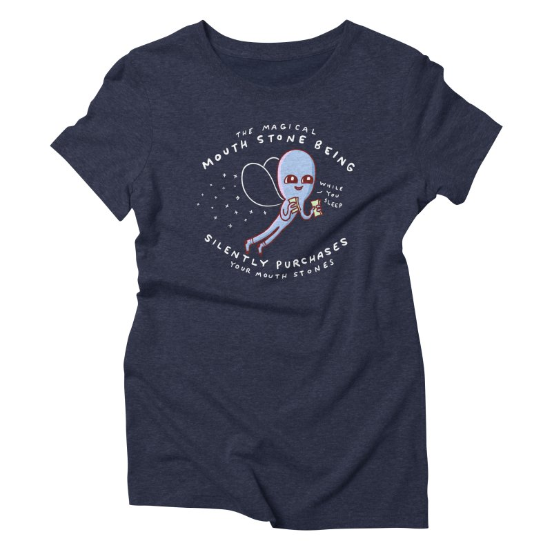STRANGE PLANET SPECIAL PRODUCT: MAGICAL MOUTH STONE BEING Women's T-Shirt by Nathan W Pyle