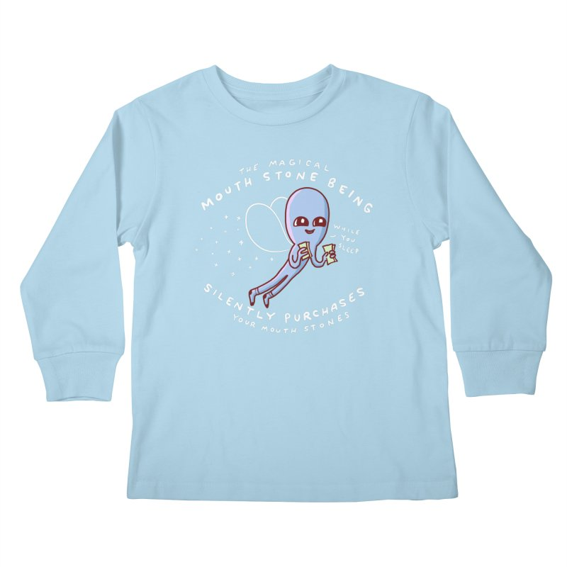 STRANGE PLANET SPECIAL PRODUCT: MAGICAL MOUTH STONE BEING Kids Longsleeve T-Shirt by Nathan W Pyle