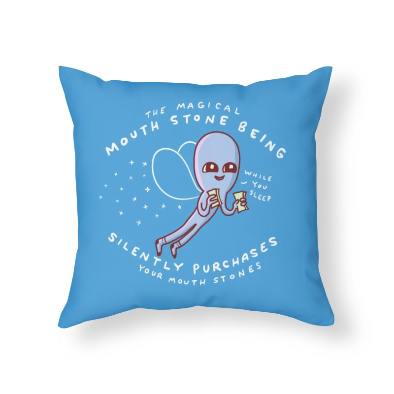 STRANGE PLANET SPECIAL PRODUCT: MAGICAL MOUTH STONE BEING Home Throw Pillow by Nathan W Pyle