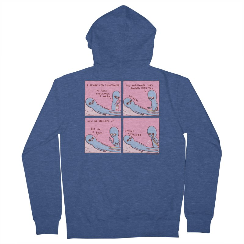 STRANGE PLANET: SWEET LIFEGIVER Men's French Terry Zip-Up Hoody by Nathan W Pyle