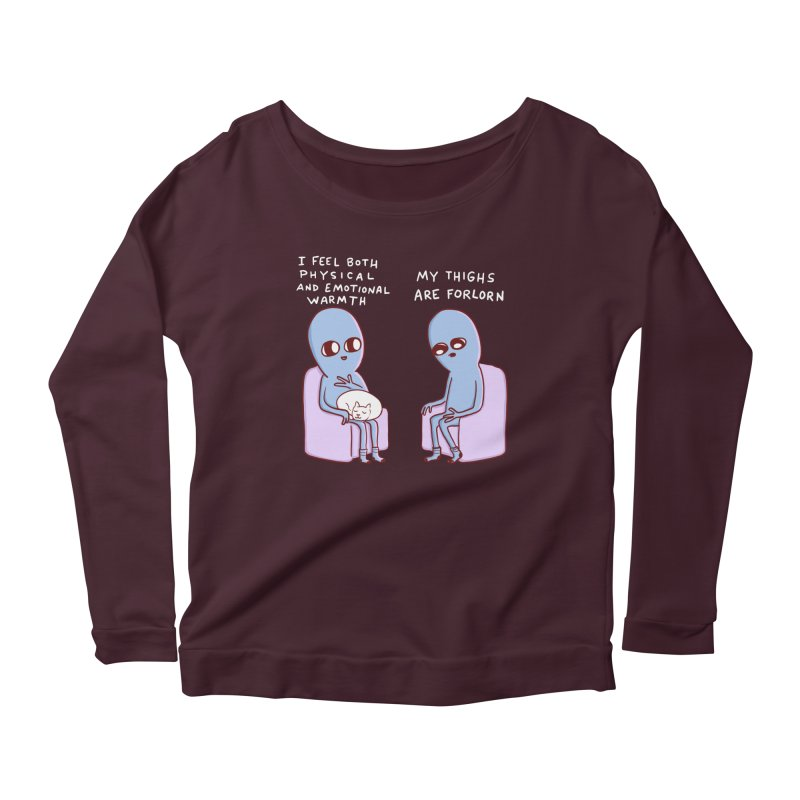 STRANGE PLANET SPECIAL PRODUCT: MY THIGHS ARE FORLORN Women's Longsleeve T-Shirt by Nathan W Pyle