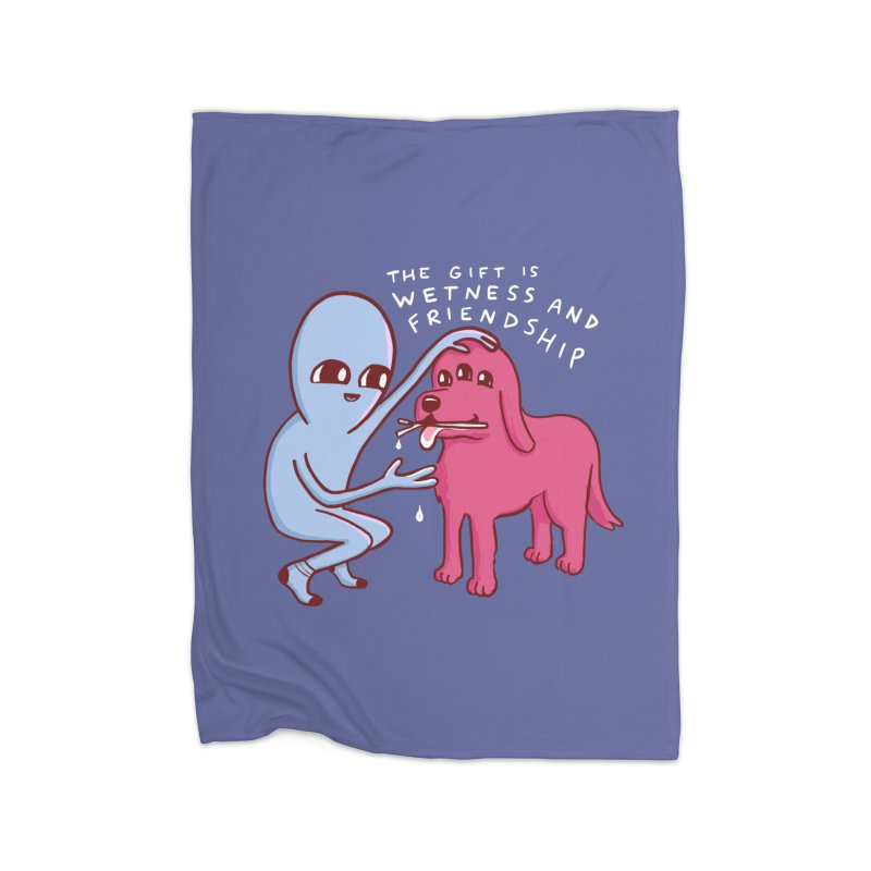 STRANGE PLANET SPECIAL PRODUCT: WETNESS AND FRIENDSHIP Home Fleece Blanket Blanket by Nathan W Pyle